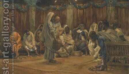 The Washing of the Feet by James Jacques Joseph Tissot - Reproduction Oil Painting