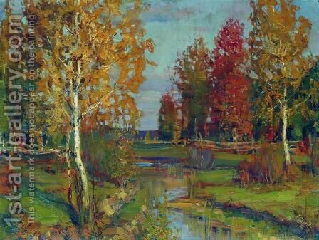 Autumn 4 by Isaak Ilyich Levitan - Reproduction Oil Painting