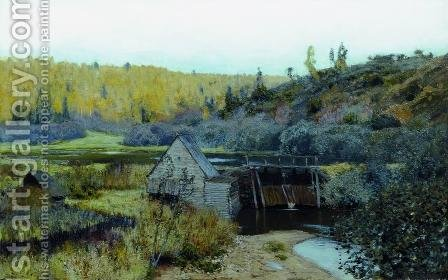 Autumn. Mill. Plyos. by Isaak Ilyich Levitan - Reproduction Oil Painting