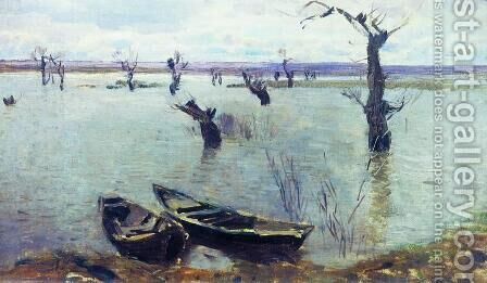 High waters 2 by Isaak Ilyich Levitan - Reproduction Oil Painting