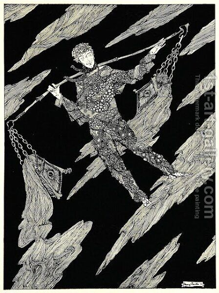 The Year's at the Spring 14 by Harry Clarke - Reproduction Oil Painting