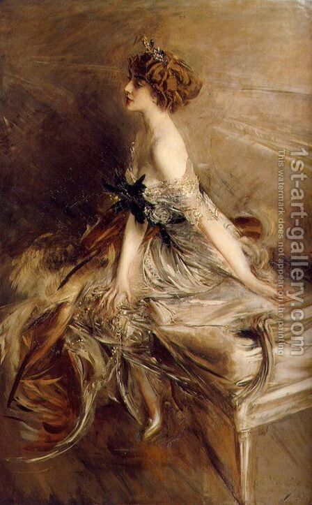 Portrait of Princess Marthe-Lucile Bibesco by Giovanni Boldini - Reproduction Oil Painting