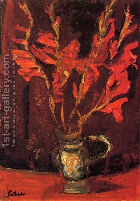 Gladioli by Chaim Soutine - Reproduction Oil Painting