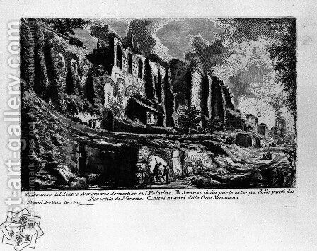The Roman antiquities, t. 1, Plate XXXV 2 by Giovanni Battista Piranesi - Reproduction Oil Painting