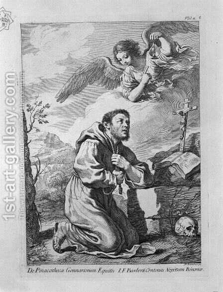 St. Francis in Prayer by Giovanni Battista Piranesi - Reproduction Oil Painting