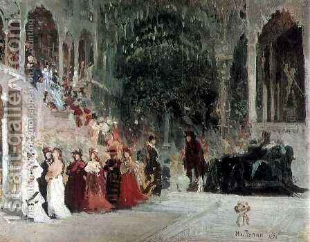 Scene from balet (study) by Ilya Efimovich Efimovich Repin - Reproduction Oil Painting