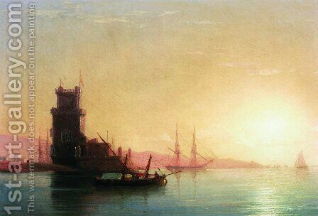 Lisbon. Sunrise by Ivan Konstantinovich Aivazovsky - Reproduction Oil Painting
