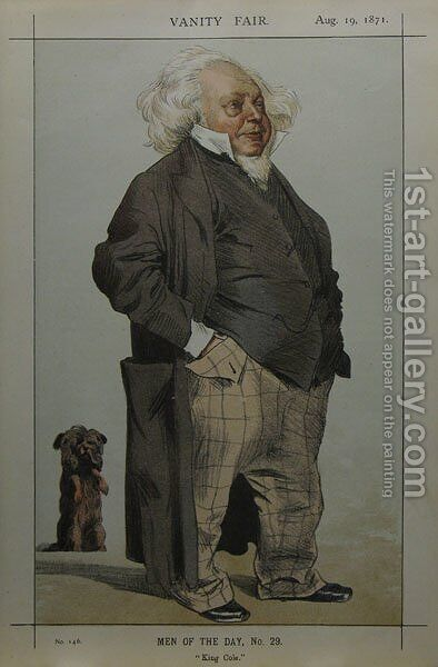 Caricature of Henry Cole by James Jacques Joseph Tissot - Reproduction Oil Painting