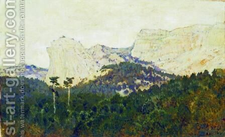 Mountains. Crimea. by Isaak Ilyich Levitan - Reproduction Oil Painting