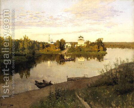 Vesper chimes by Isaak Ilyich Levitan - Reproduction Oil Painting