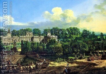 Wilanow Palace seen from the entrance by Bernardo Bellotto (Canaletto) - Reproduction Oil Painting