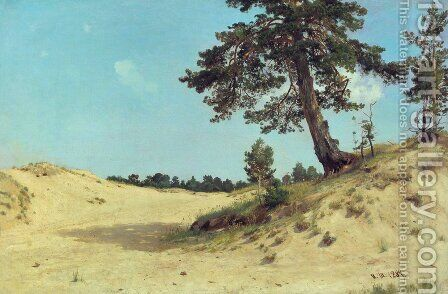 Pine on sand by Ivan Shishkin - Reproduction Oil Painting