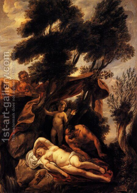 Sleep of Antiope by Jacob Jordaens - Reproduction Oil Painting
