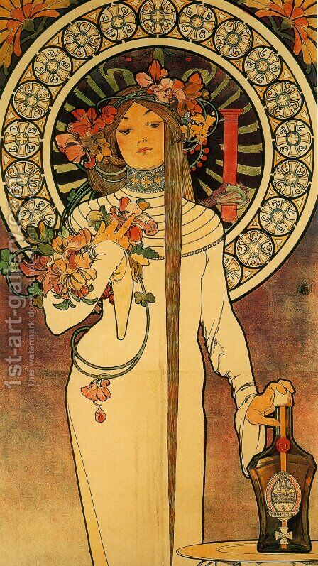 The Trappistine by Alphonse Maria Mucha - Reproduction Oil Painting