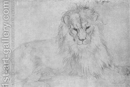 Lion 2 by Albrecht Durer - Reproduction Oil Painting