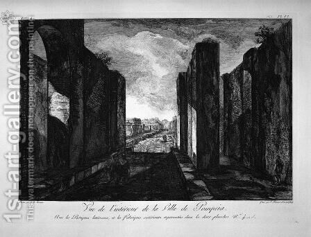 View of buildings taken from the entrance of the city of Pompeii by Giovanni Battista Piranesi - Reproduction Oil Painting