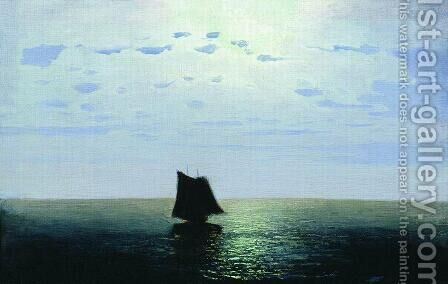 Moonlight Night on the Sea by Arkhip Ivanovich Kuindzhi - Reproduction Oil Painting
