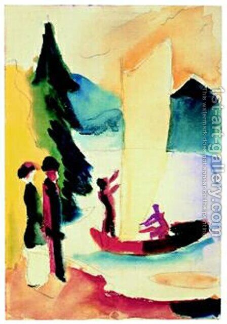 Gelbes Segel by August Macke - Reproduction Oil Painting