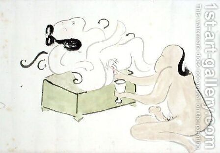 A Shunga 14 by Ike no Taiga - Reproduction Oil Painting