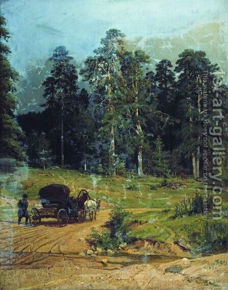 Polesye by Ivan Shishkin - Reproduction Oil Painting