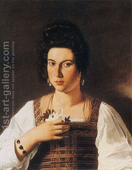 Portrait of a Courtesan by Caravaggio - Reproduction Oil Painting