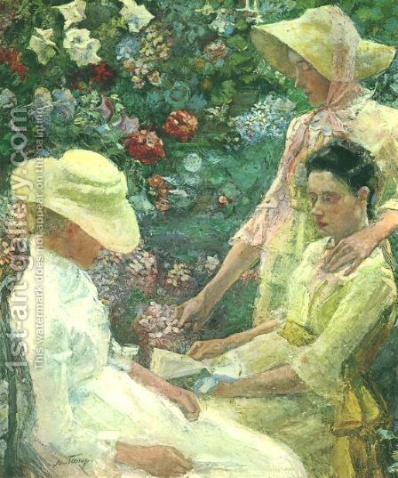 Trio fleuri by Jan Toorop - Reproduction Oil Painting