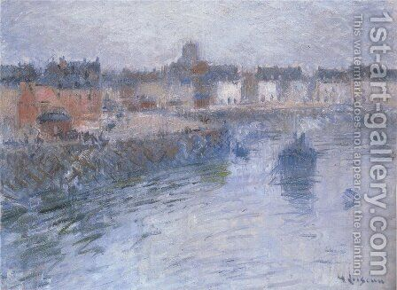 Port of Dieppe 2 by Gustave Loiseau - Reproduction Oil Painting