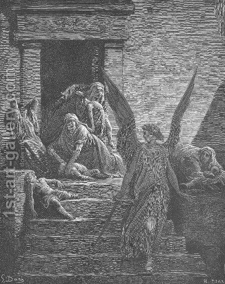The Firstborn of the Egyptians Are Slain by Gustave Dore - Reproduction Oil Painting