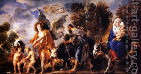 The Flight into Egypt by Jacob Jordaens - Reproduction Oil Painting