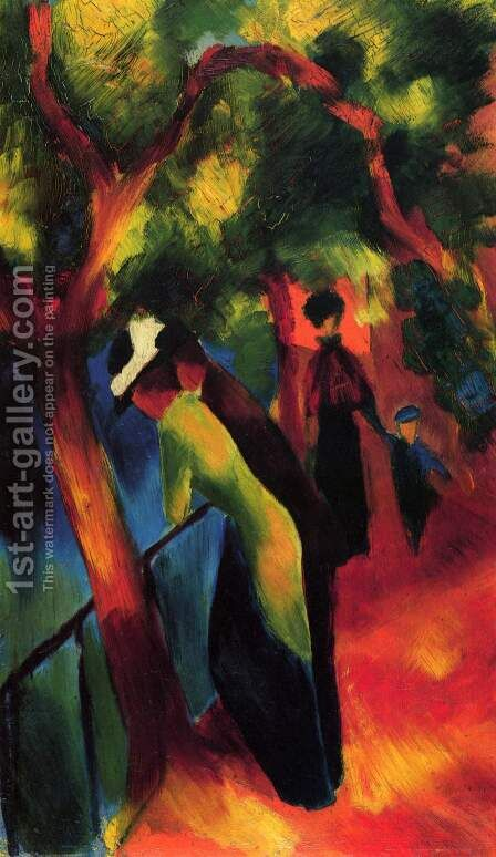 Sunny way by August Macke - Reproduction Oil Painting