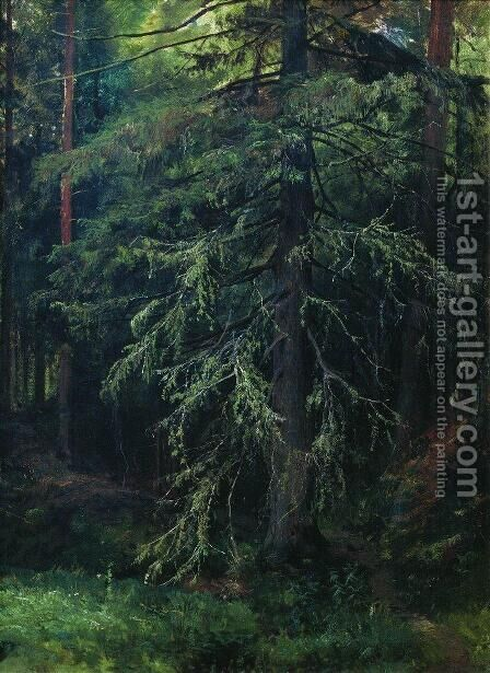 Fir 2 by Ivan Shishkin - Reproduction Oil Painting