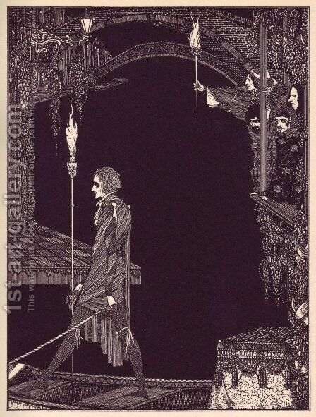 Tales of Mystery and Imagination by Edgar Allan Poe 13 by Harry Clarke - Reproduction Oil Painting