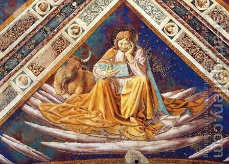 St. Luke (detail of The Four Evangelists) by Benozzo di Lese di Sandro Gozzoli - Reproduction Oil Painting