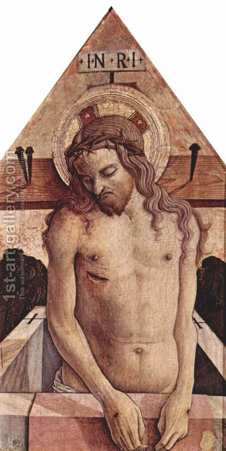 Man of Sorrow by Carlo Crivelli - Reproduction Oil Painting
