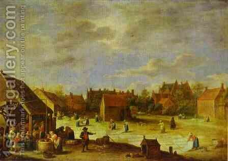 A Bleaching Ground by David The Younger Teniers - Reproduction Oil Painting