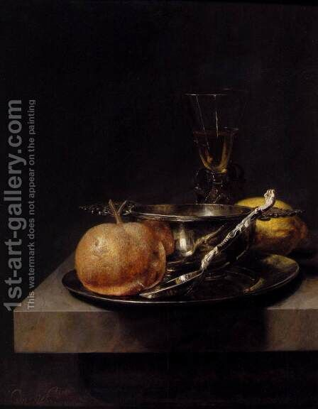 Still Life With Silver Cup by Cornelis Kick - Reproduction Oil Painting