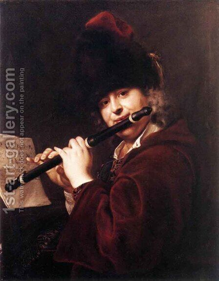 Portrait Of The Court Musician Josef Lemberger by Jan Kupecky - Reproduction Oil Painting