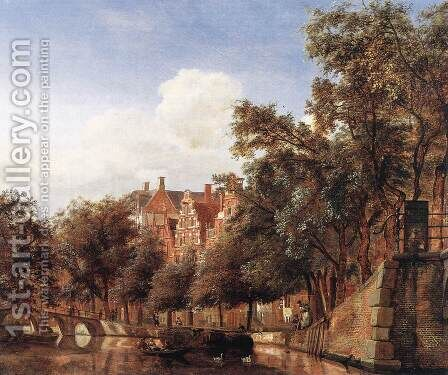 View of the Herengracht, Amsterdam c. 1670 by Jan Van Der Heyden - Reproduction Oil Painting