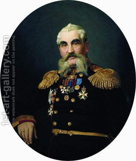 Portrait of the military by Ilya Efimovich Efimovich Repin - Reproduction Oil Painting