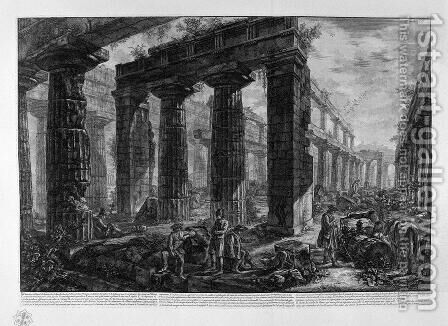Inside a temple 2 by Giovanni Battista Piranesi - Reproduction Oil Painting