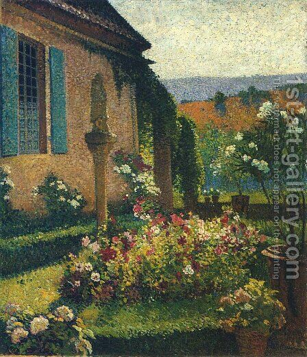 Garden of the Artist by Henri Martin - Reproduction Oil Painting