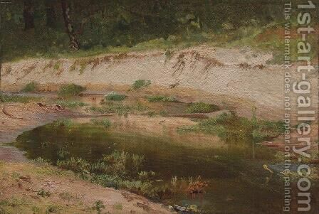 Forest Stream 7 by Ivan Shishkin - Reproduction Oil Painting
