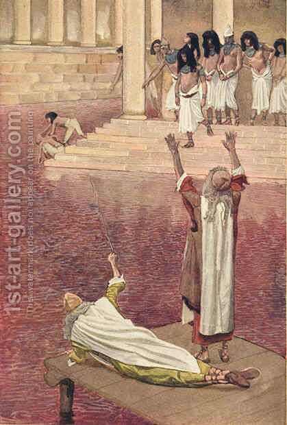 Water Is Changed into Blood by James Jacques Joseph Tissot - Reproduction Oil Painting