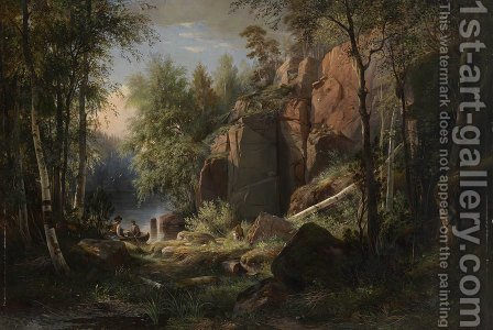 View of Valaam Island. Kukko 2 by Ivan Shishkin - Reproduction Oil Painting