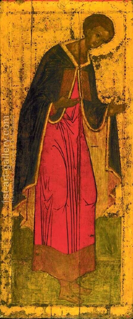 St. Demetrius of Thessalonica by Andrei Rublev - Reproduction Oil Painting