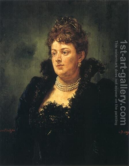 Bona Ossowiecka by Jan Matejko - Reproduction Oil Painting