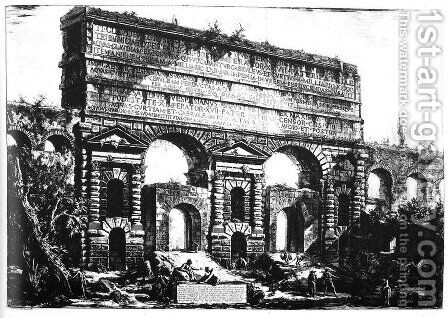 Rome. Porta Maggiore. by Giovanni Battista Piranesi - Reproduction Oil Painting