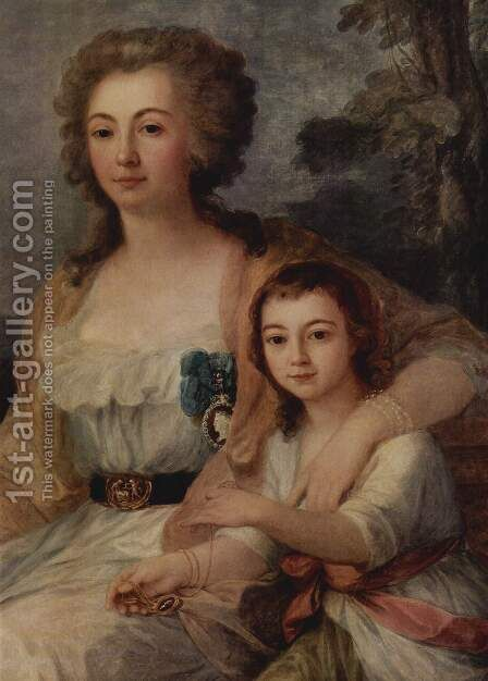 Countess Anna Protassowa with niece by Angelica Kauffmann - Reproduction Oil Painting
