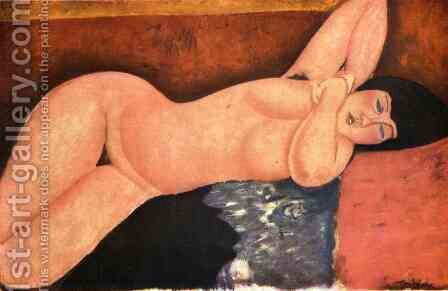 Reclining nude 5 by Amedeo Modigliani - Reproduction Oil Painting