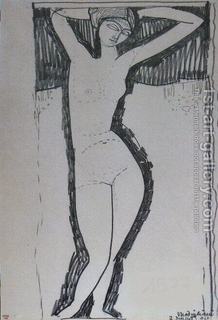Nude 2 by Amedeo Modigliani - Reproduction Oil Painting